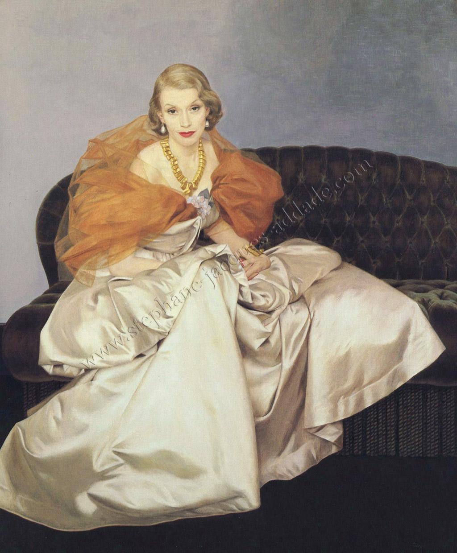 Bernard Boutet de Monvel Millicent Rogers (robe de Charles James) 1949